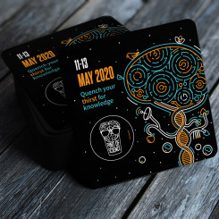 Pint of Science 2020 beer mats