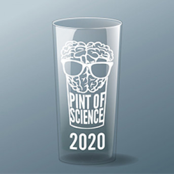 Pint of Science 2020 pint glass
