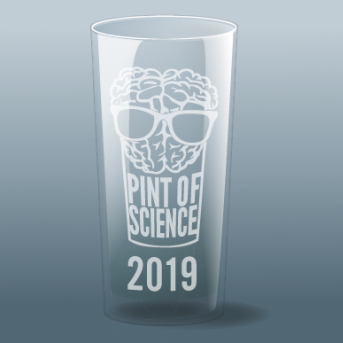Pint of Science 2019 pint glass
